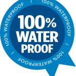 100 per cent waterproof logo