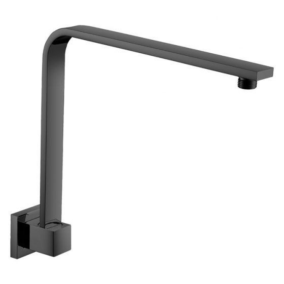 Square Hi-rise Shower arm BLACK