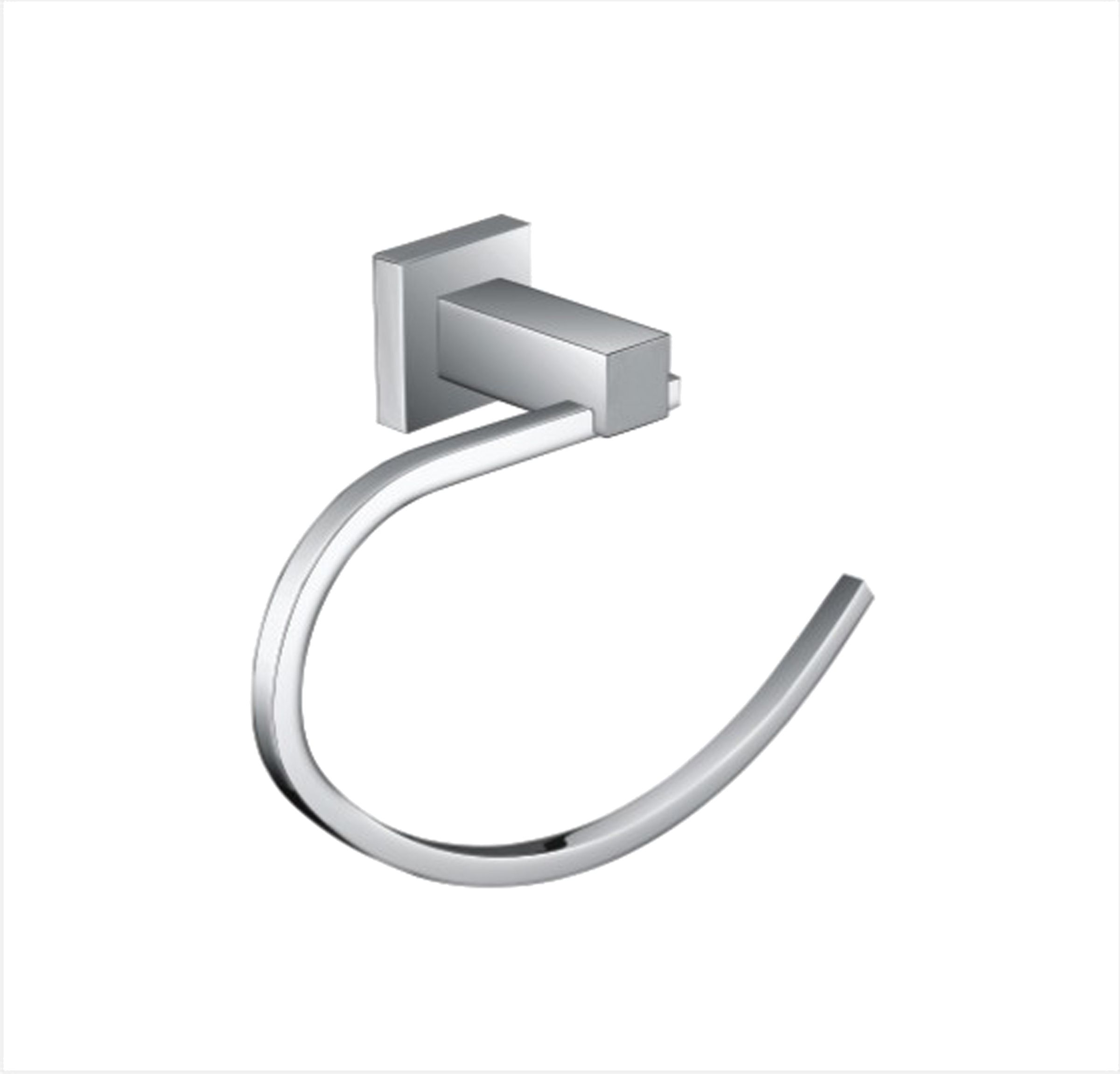 Square Towel Ring Bathroom Accessories Perth Alpine