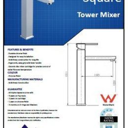 Square Tower Basin Mixer - Specs