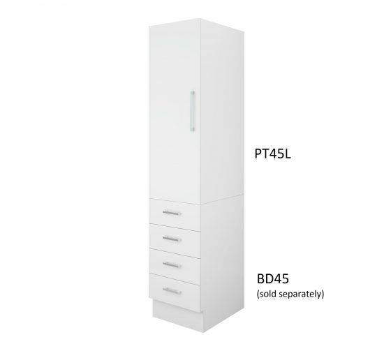 Pantry Topper 45cm Left Hand Hinge with Four Drawer