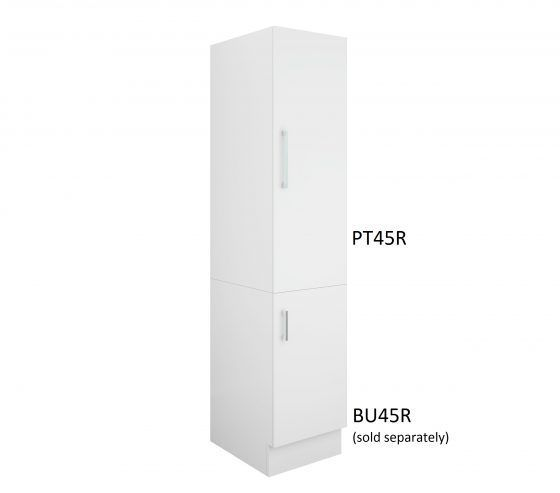 Pantry Topper 45cm Right-Hand Hinge with Base Cabinet