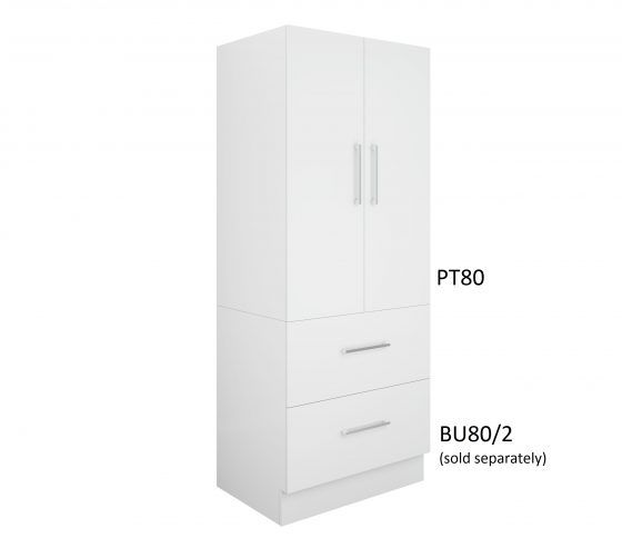 Pantry Topper 80cm - Two Drawer