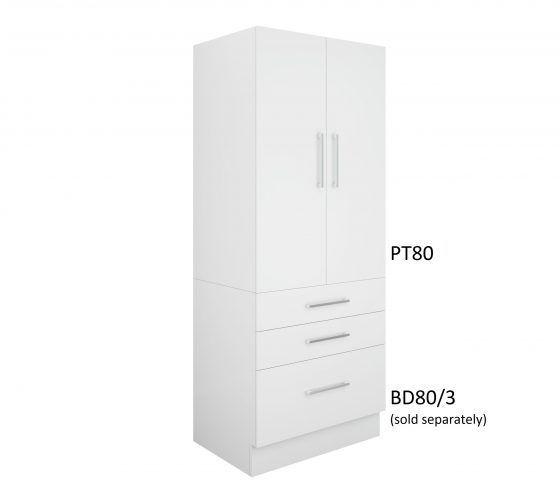 Pantry Topper 80cm - Three Drawer