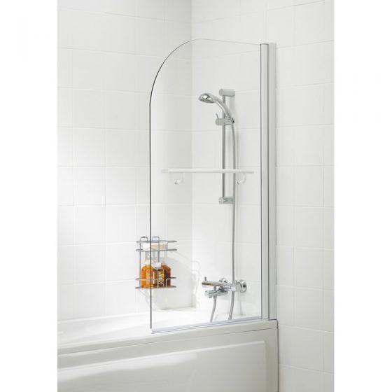 Curved Bath Screen with Towel Rail