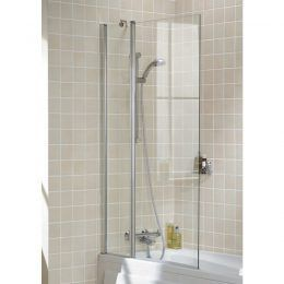 Square Double Panel Bath Screen