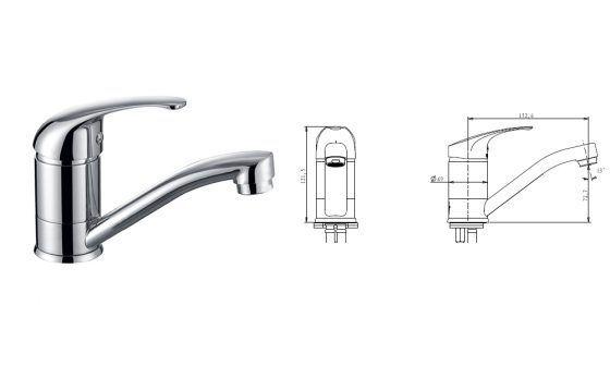 Swivel Basin Mixer - Specs