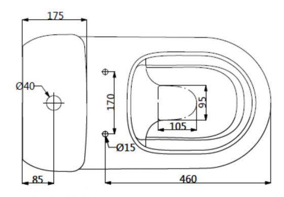 Peak Rimless Toilet Suite Specs