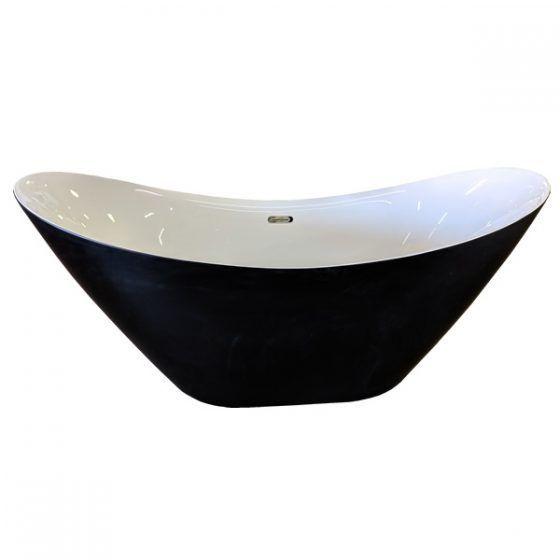 Bermuda Black & White Free Standing Bath