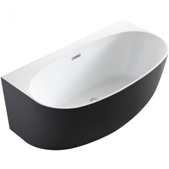 Morocco Back to the Wall Black & White Bath 150cm