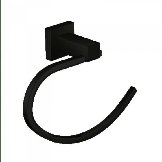 Black Square Towel Ring