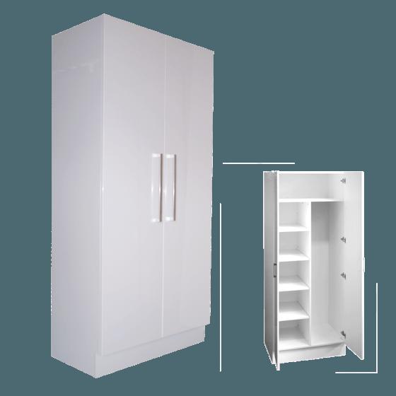 Combination Linen/Broom Cupboard 80cm (44cm Deep)