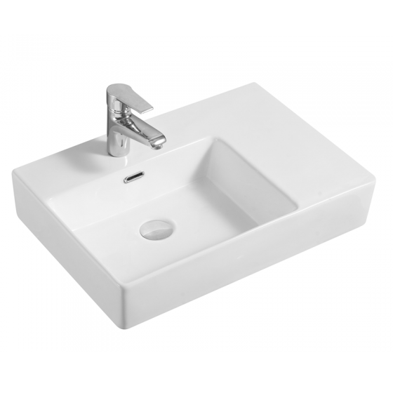 Cube Wall Basin (Left Hand Bowl)