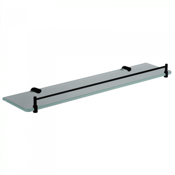 Square Black Glass Shelf