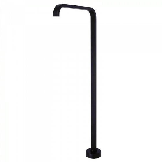 Cube Freestanding Black Bath Spout