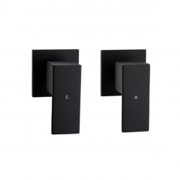 Cube 1/4 Turn Wall Assemblies Black